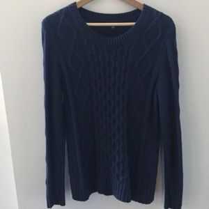 GAP classic mixed cable sweater